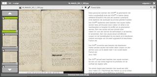 Vrijwilligers Zeeuws Archief maken transcripties van oude handschriften voor de transcriptietool in Archieven.nl. Prt.sc AWK
