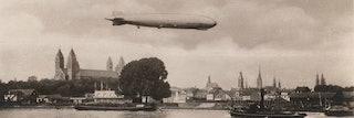 De Graf Zeppelin boven Budapest, 1931. Bron: internet