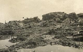 Restanten van een versterking in het gebied van de slag om de Somme