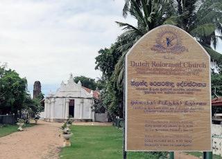 Dutch Reformed Church in Kalpitiya, Sri Lanka. FotoJanKoeman