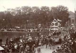 Historische optocht in Middelburg, 2 september 1898. Zeeuws Archief, Verzameling Beeld en geluid inv.nr 612