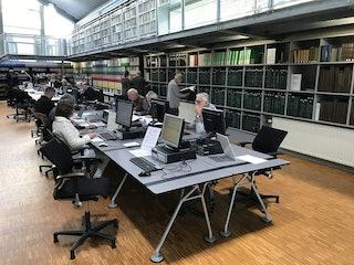 Genealogisch Centrum in studiezaal Zeeuws Archief, 2019. Foto A. van Waarden-Koets