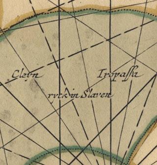 detail van kaart van de goudkust