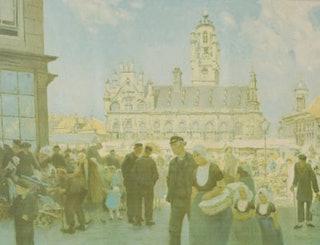 HJ Wolter Het stadhuis te Middelburg. Eigendom mw. Janitsch-Brillenburg Wurt