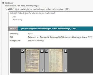 Detailscherm in Archieven.nl