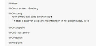Lijst weergave in Archieven.nl