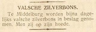Waarschuwing voor valse zilverbons in de krant