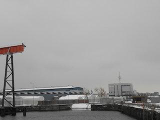 Restant van de marinesluis in Vlissingen anno 2013. Foto gemaakt door Ron van Maanen