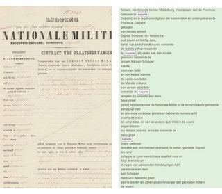 voorbeeld transcriptie met scan