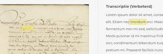 transcriptie website handschriftherkenning