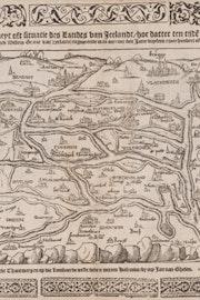 Kaart van Zeeland circa 1230 volgens Dye cronijcke van Zeelandt door Jan Reygersberch. Zeeuws Archief, Zeeuws Genootschap, Zelandia Illustrata, deel 1, nr 985.